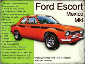Ford Escort Mexico fridge magnet  (og)